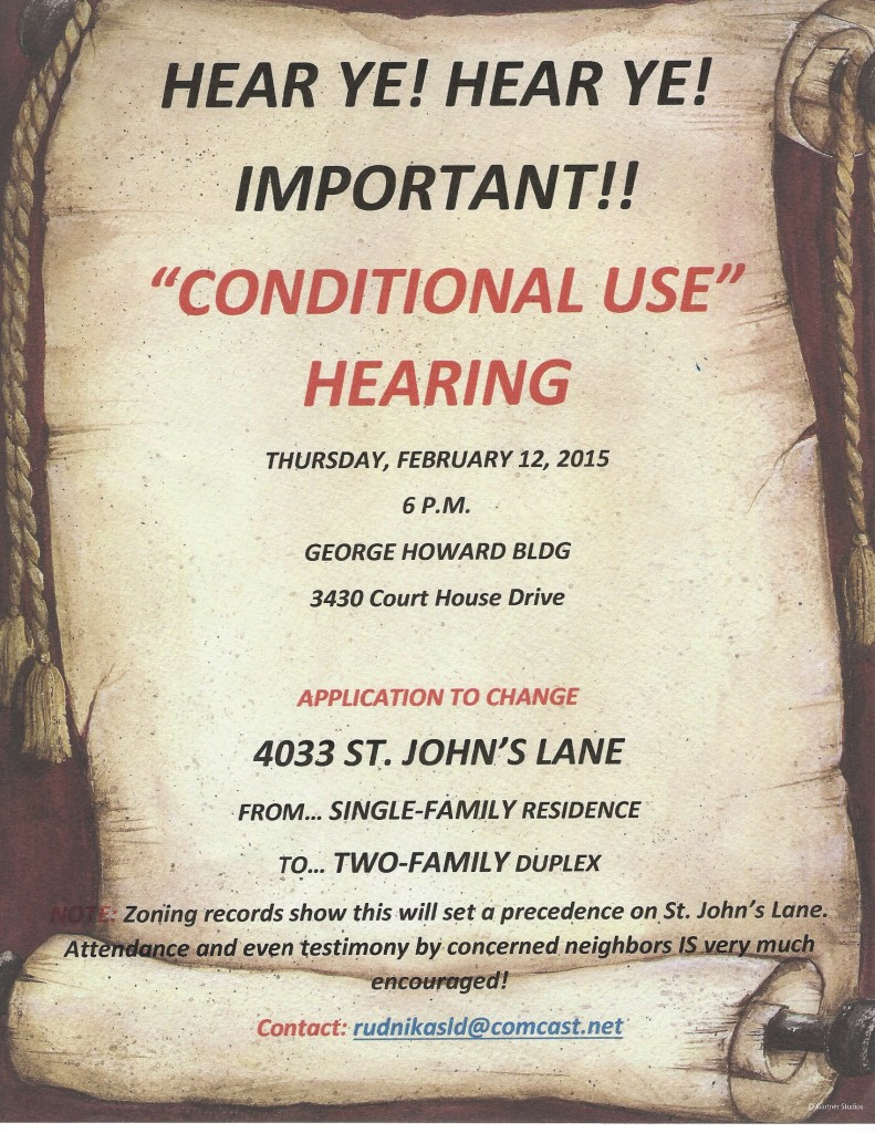 Conditional Use Hearing